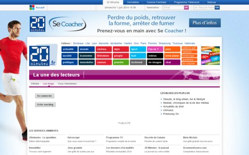 Access 20minutes-blogs.fr using Hola Unblocker web proxy