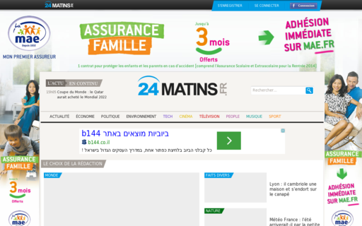 Access 24matins.fr using Hola Unblocker web proxy