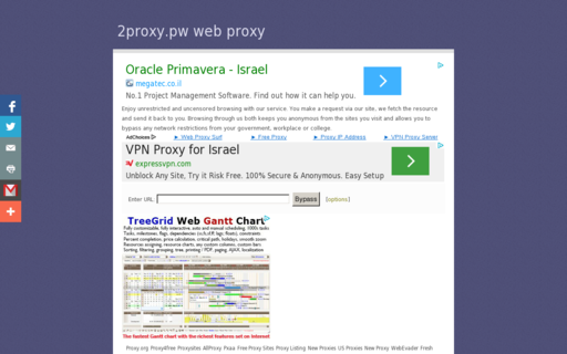 Access 2proxy.pw using Hola Unblocker web proxy