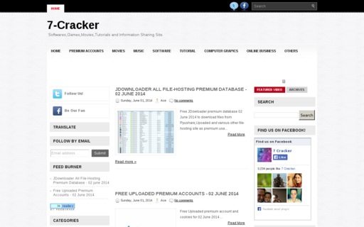 Access 7-cracker.com using Hola Unblocker web proxy