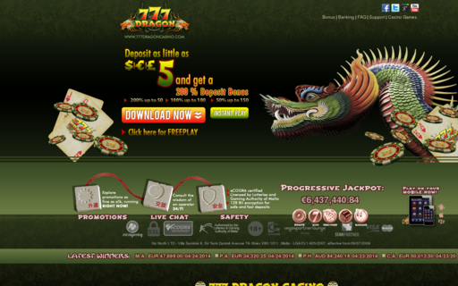Access 777dragoncasino.com using Hola Unblocker web proxy
