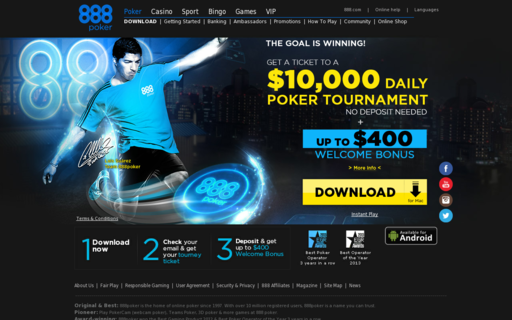 Access 888poker.com using Hola Unblocker web proxy