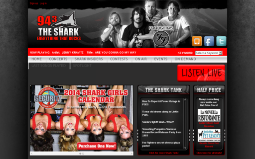 Access 943theshark.com using Hola Unblocker web proxy