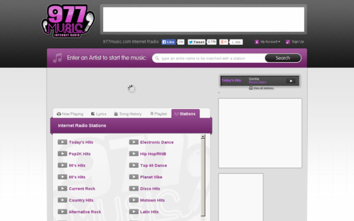 Access 977music.com using Hola Unblocker web proxy