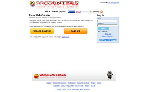 Access 99counters.com using Hola Unblocker web proxy