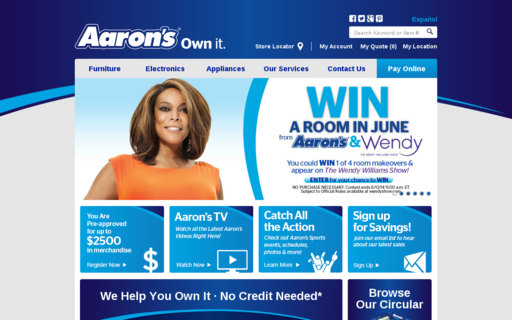 Access aarons.com using Hola Unblocker web proxy