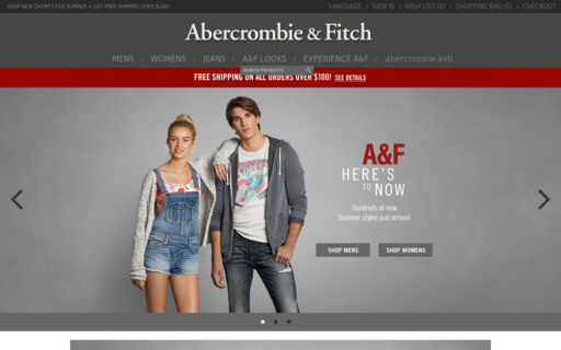 Access abercrombie.ca using Hola Unblocker web proxy