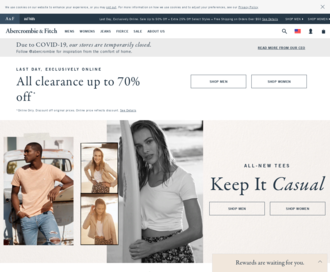 Access abercrombie.com using Hola Unblocker web proxy