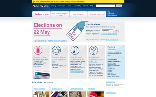 Access aboutmyvote.co.uk using Hola Unblocker web proxy