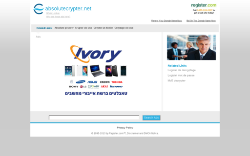 Access absolutecrypter.net using Hola Unblocker web proxy