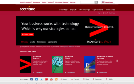 Access accenture.com using Hola Unblocker web proxy