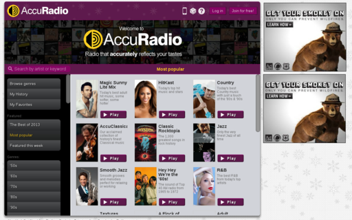 Access accuradio.com using Hola Unblocker web proxy