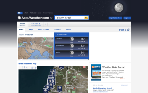 Access accuweather.com using Hola Unblocker web proxy