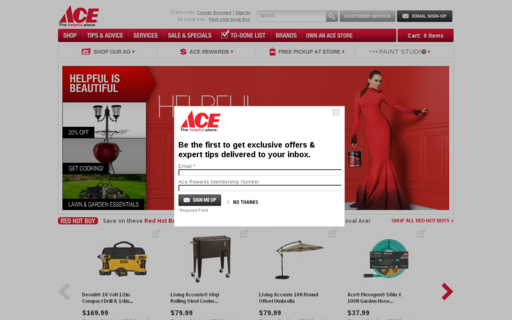 Access acehardware.com using Hola Unblocker web proxy