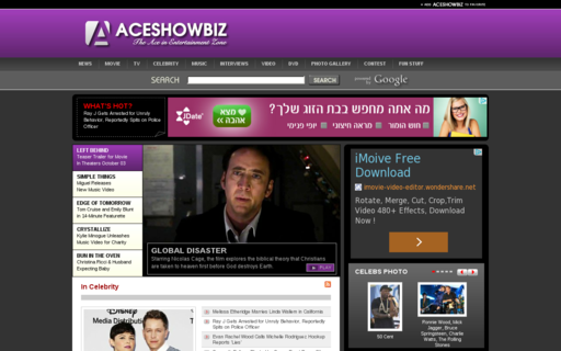 Access aceshowbiz.com using Hola Unblocker web proxy