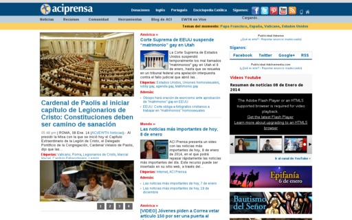 Access aciprensa.com using Hola Unblocker web proxy