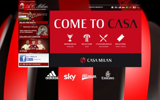 Access acmilan.com using Hola Unblocker web proxy