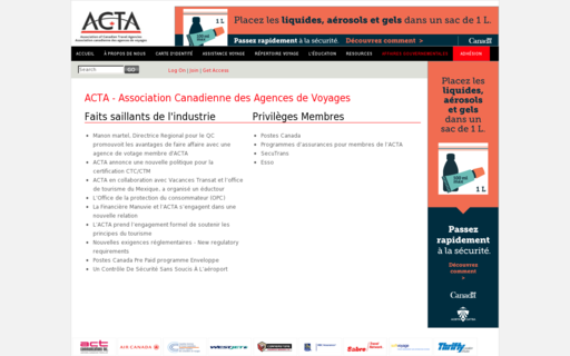 Access actafr.ca using Hola Unblocker web proxy