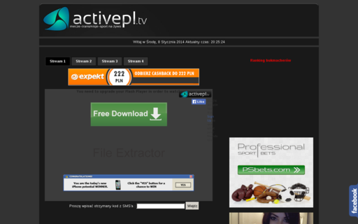 Access activepl.tv using Hola Unblocker web proxy