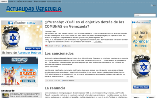 Access actualidadvenezuela.org using Hola Unblocker web proxy