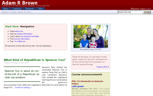 Access adambrown.info using Hola Unblocker web proxy