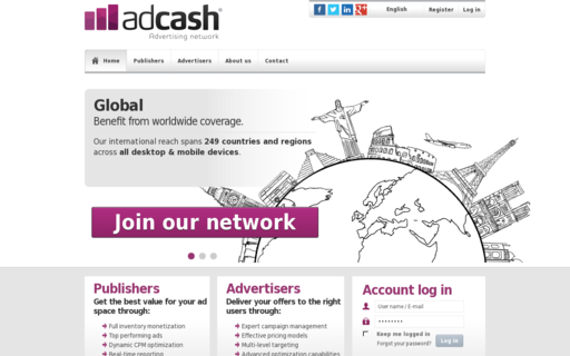 Access adcash.com using Hola Unblocker web proxy