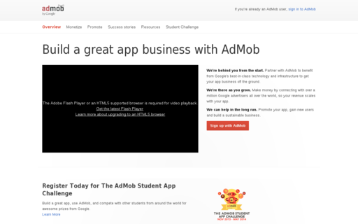 Access admob.com using Hola Unblocker web proxy