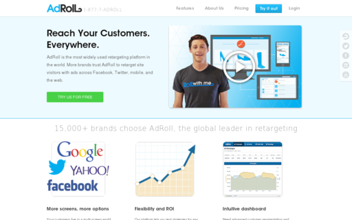 Access adroll.com using Hola Unblocker web proxy
