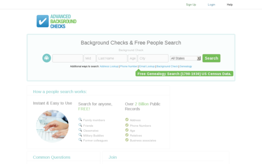 Access advancedbackgroundchecks.com using Hola Unblocker web proxy