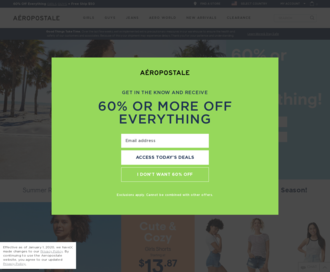 Access aeropostale.com using Hola Unblocker web proxy