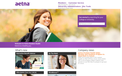 Access aetnastudenthealth.com using Hola Unblocker web proxy