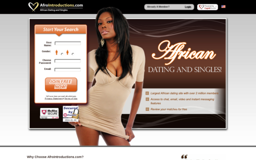 Access afrointroductions.com using Hola Unblocker web proxy