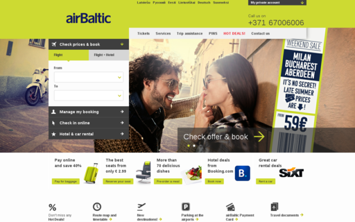 Access airbaltic.com using Hola Unblocker web proxy