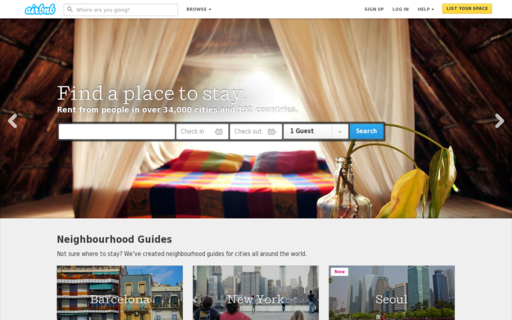 Access airbnb.co.uk using Hola Unblocker web proxy