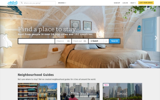 Access airbnb.com.au using Hola Unblocker web proxy
