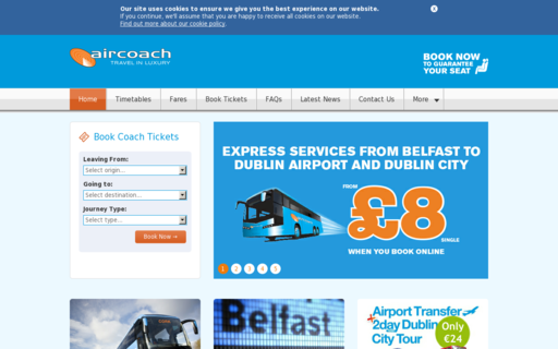 Access aircoach.ie using Hola Unblocker web proxy