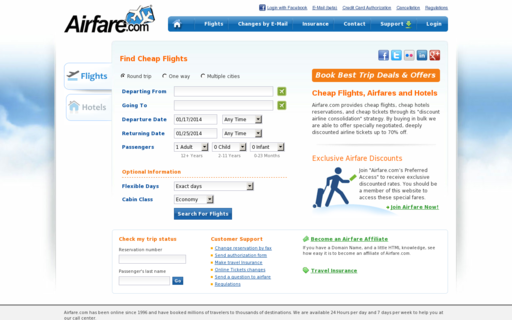 Access airfare.com using Hola Unblocker web proxy