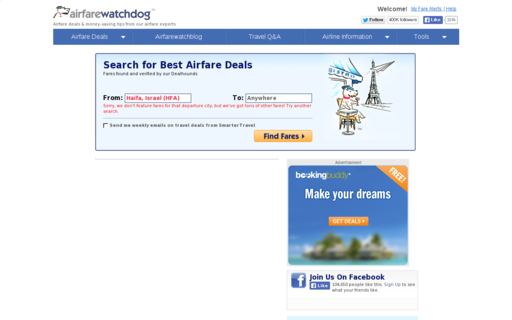 Access airfarewatchdog.com using Hola Unblocker web proxy