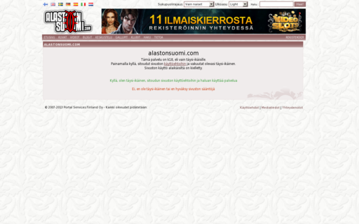 Access alastonsuomi.com using Hola Unblocker web proxy