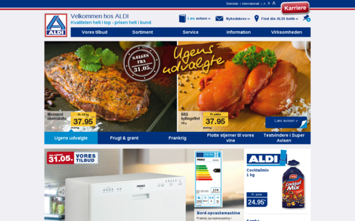 Access aldi.dk using Hola Unblocker web proxy