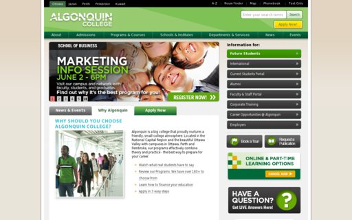 Access algonquincollege.com using Hola Unblocker web proxy