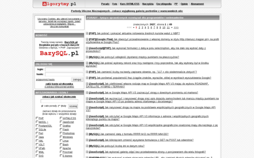 Access algorytmy.pl using Hola Unblocker web proxy