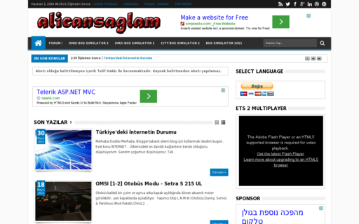 Access alicansaglam.com using Hola Unblocker web proxy