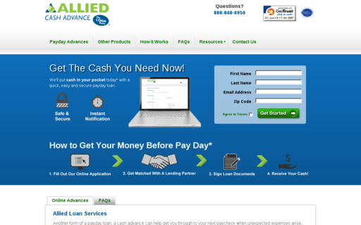 Access alliedcash.com using Hola Unblocker web proxy