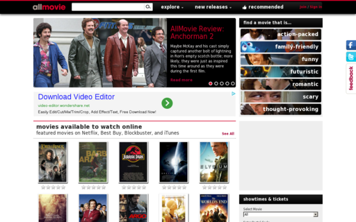 Access allmovie.com using Hola Unblocker web proxy