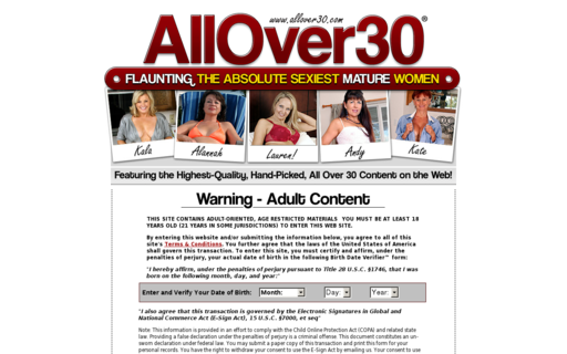 Access allover30.com using Hola Unblocker web proxy
