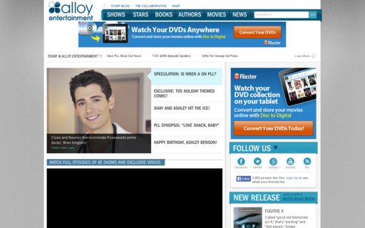 Access alloyentertainment.com using Hola Unblocker web proxy