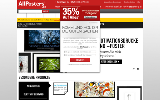 Access allposters.de using Hola Unblocker web proxy