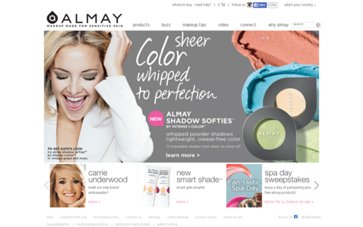 Access almay.com using Hola Unblocker web proxy