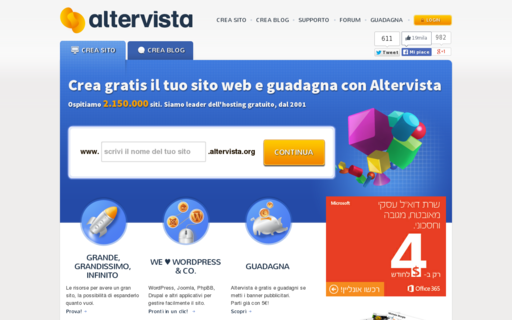 Access altervista.org using Hola Unblocker web proxy